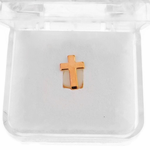 Rose Gold Cross Single Tooth