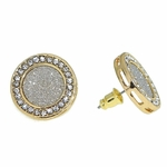 Round Gold Earrings 18MM