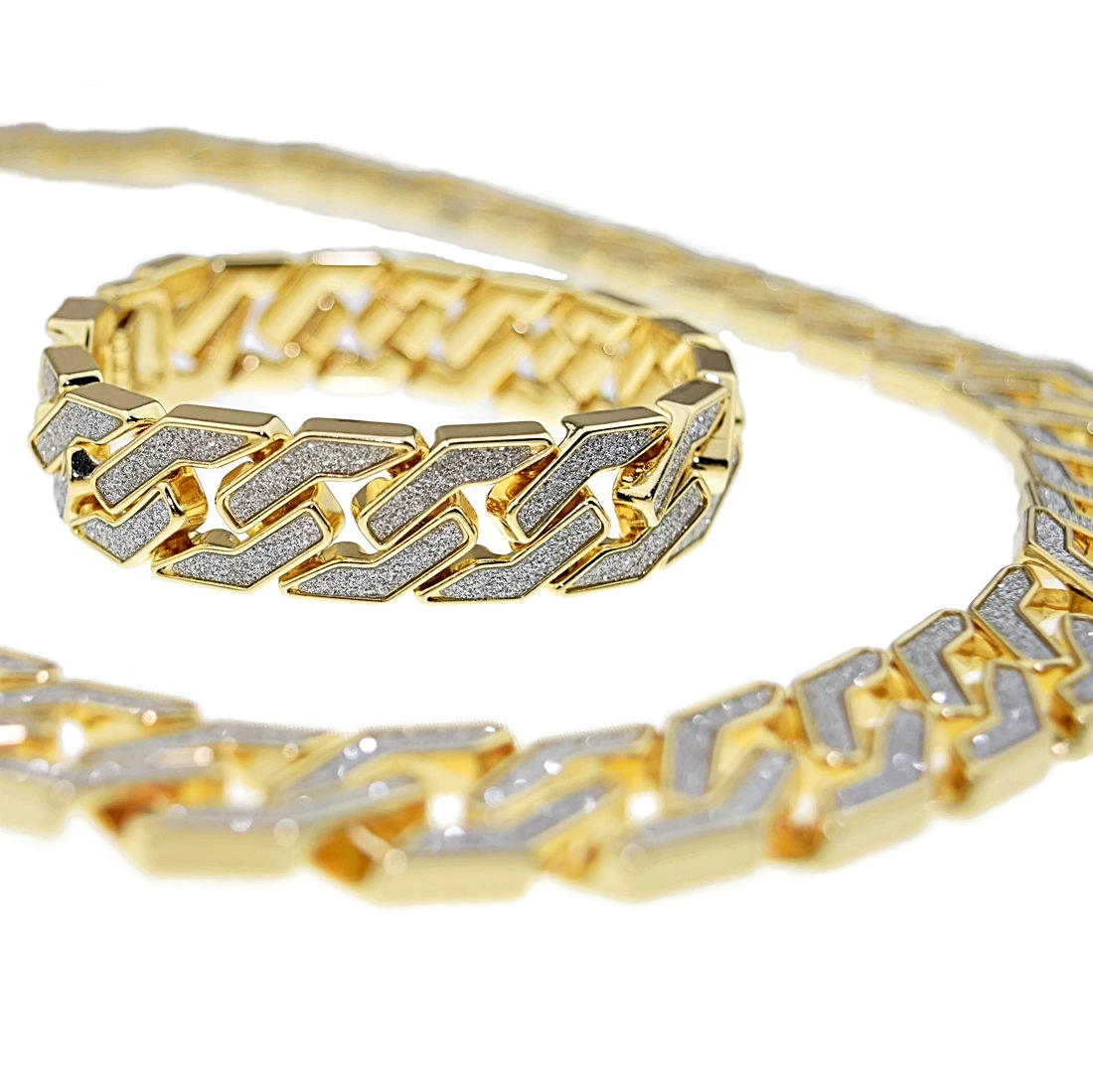 20MM Gold Chain Bracelet Cuban Chains