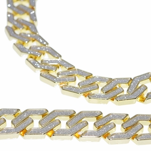 "30"" x 20MM Chain Gold Sand Blast"
