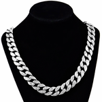 "Silver 24"" Cuban Chain Necklace"