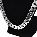 "Silver 30"" x 12MM Cuban Chain"