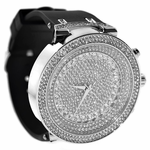 Silver Round Hip Hop Watch