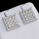 Square 10 mm 925 Silver Earrings