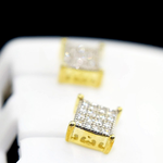 7MM Square 925 Earrings