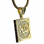 Square Allah Gold Franco Chain
