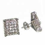 Square Iced-Out Earrings