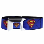 Superman Blue Seatbelt Belt