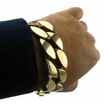 25mm Cuban Gold Bracelet 9""