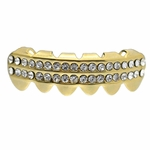 Gold 2-Row Lower Grillz