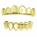 2 Open Sides Gold Grillz Set