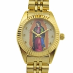 La Virgen Gold Tone Ladies Watch