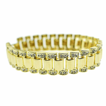 "Watchband Gold 8.5"" Bracelet"