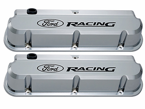 Ford Racing Chrome Slant-Edge Valve Covers for 289/302/351w Small Block Ford