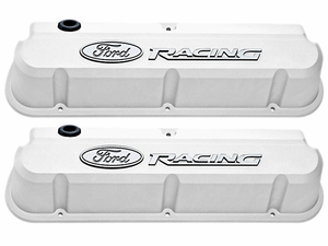 Ford Racing Polished Slant-Edge Valve Covers for 289/302/351w Small Block Ford