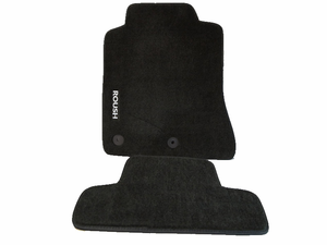 Roush Embroidered Black Floor Mats for 2015 Mustang