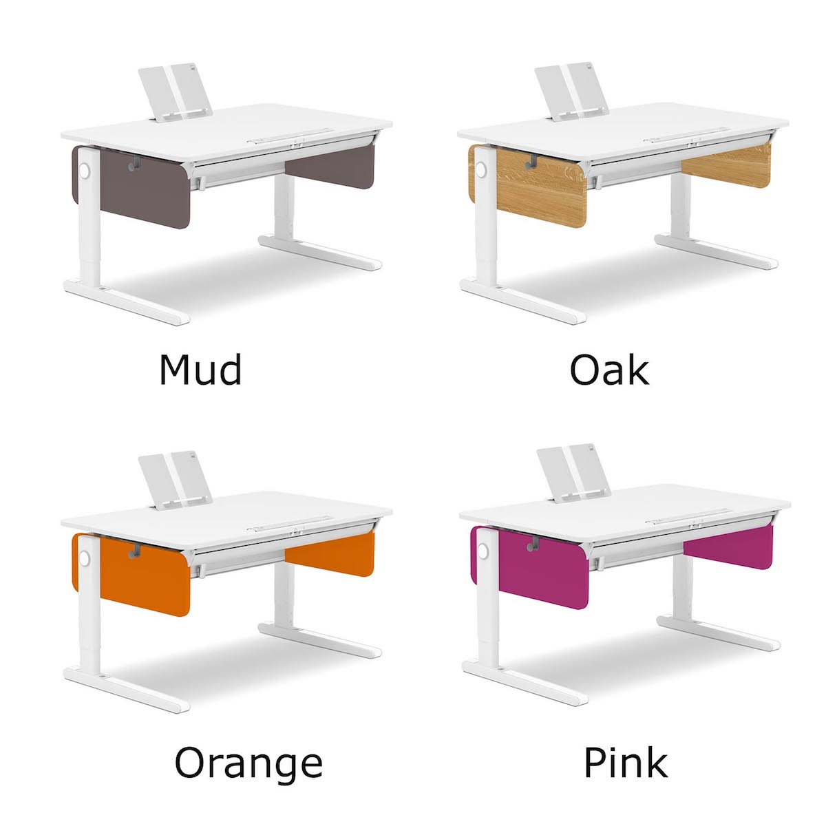 Moll Champion Adjustable Desk with Colored Panels