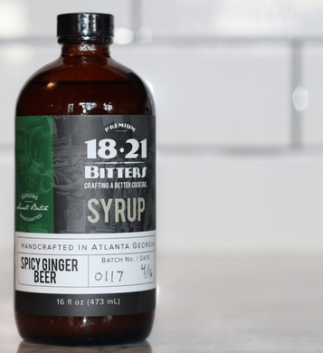 18 21 Bitters Spicy Ginger Beer Concentrate Syrup