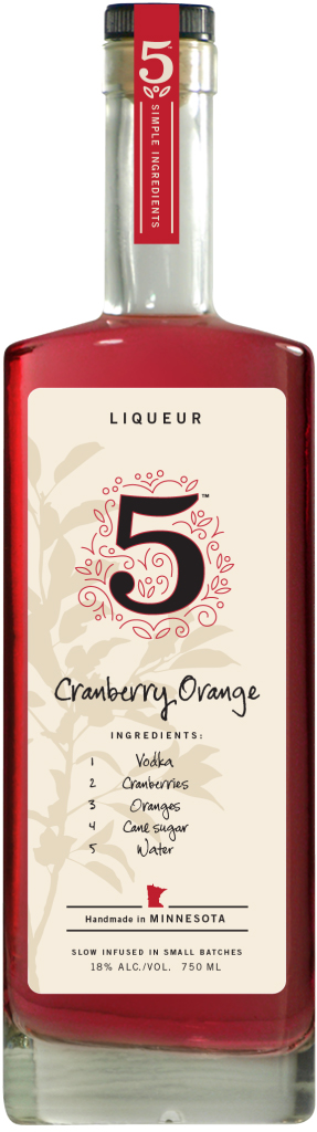 5 Infused Cranberry Orange Liqueur 750ML