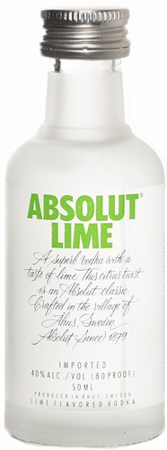 Absolut Lime Flavored Vodka 50ML