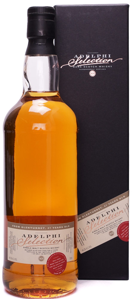 Adelphi Selection Glenturret 27 Year Old Single Malt Scotch 1987