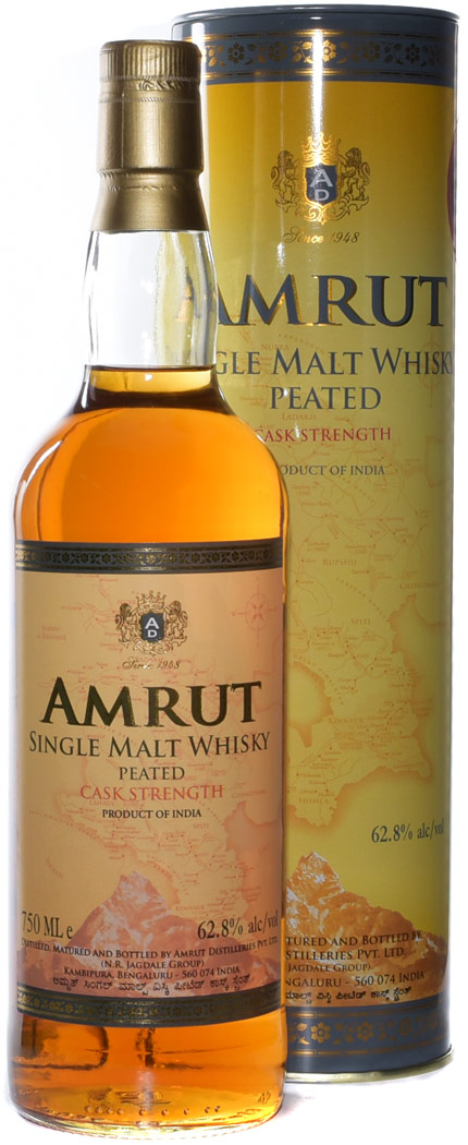 Amrut Peated Cask Strength Single Malt Indian Whisky