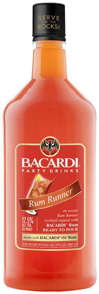 Bacardi Rum Runner Cocktail 1.75L