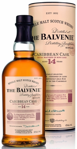 Balvenie 14 Year Old Caribbean Rum Cask Single Malt Scotch