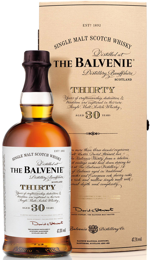 Balvenie 30 Year Old Single Malt Scotch