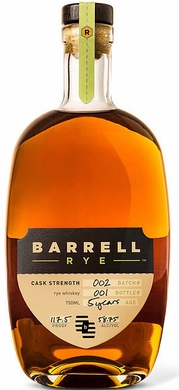 Barrell Rye Cask Strength Rye Whiskey Batch 2 750ML