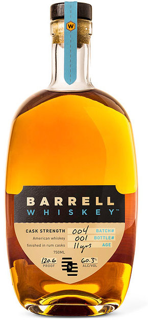 Barrell Whiskey Cask Strength 11 Year Old American Whiskey Batch 4