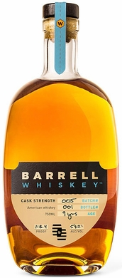 Barrell Whiskey Cask Strength 9 Year Old American Whiskey Batch 5
