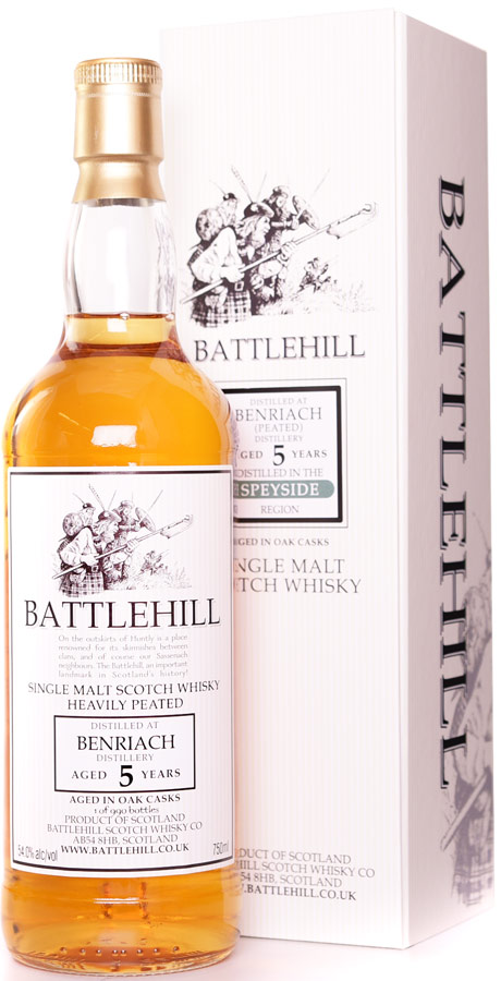 Battlehill Benriach Peated 5 Year Old Single Malt Whisky
