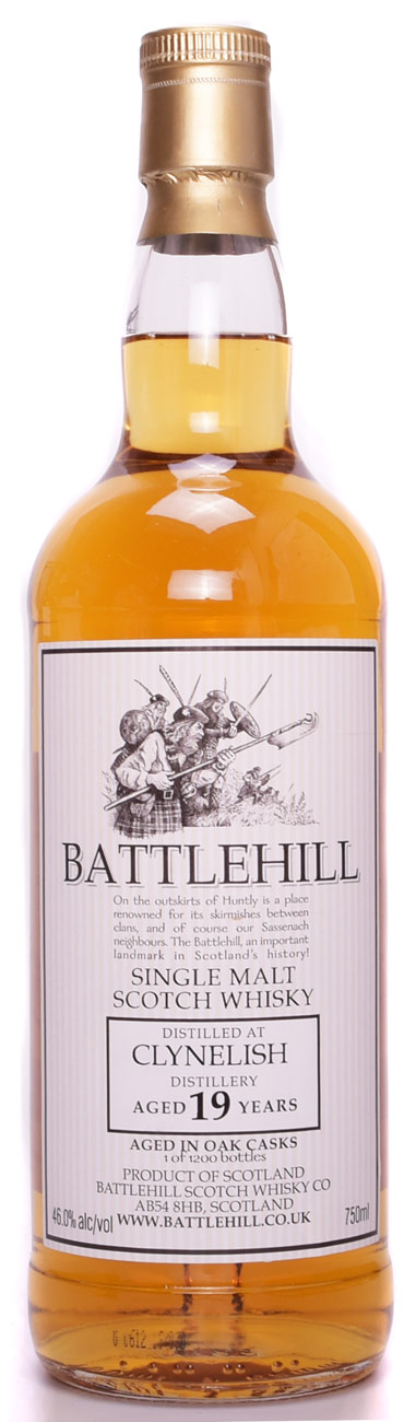 Battlehill Clynelish 19 Year Old Single Malt Scotch