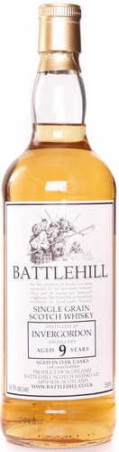 Battlehill Invergordon 9 Year Old Single Grain Whisky