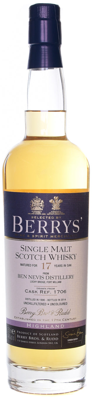 Berrys' Ben Nevis 17 Year Old Single Malt Scotch 1996