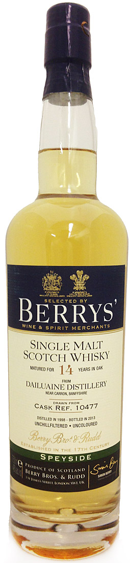 Berrys' Dailuaine 14 Year Old Single Malt Scotch