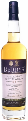 Berrys Glen Spey 24 Year Old Single Malt Scotch 750ML 1990