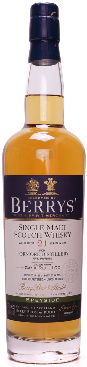 Berrys' Tormore 21 Year Old Single Malt Whisky