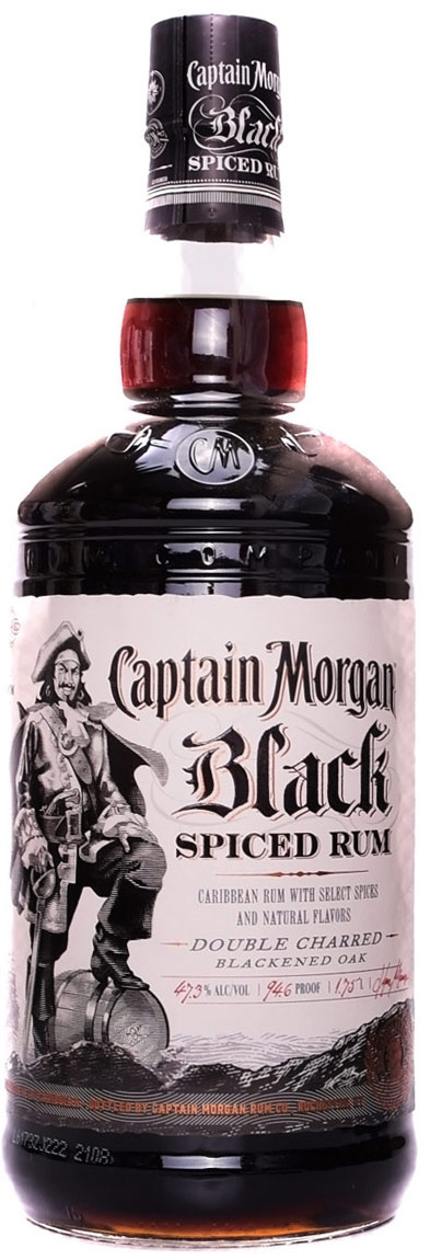 Captain Morgan Black Spiced Rum 1.75L