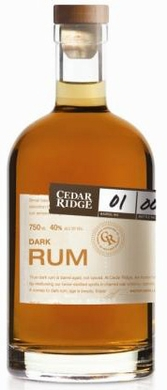 Cedar Ridge Dark Rum 750ML (case of 6)