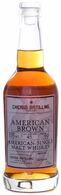 Chicago Distilling American Brown Single Malt Whiskey 375ML
