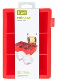 Colossal Ice Cube Tray 2' Cubes- Red