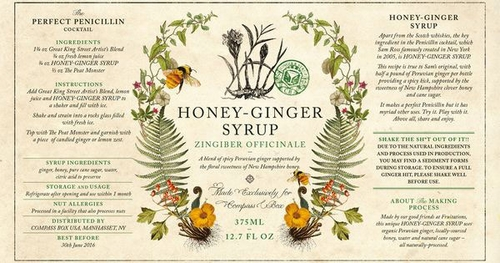 Compass Box Mixers Honey Ginger Syrup 375ML