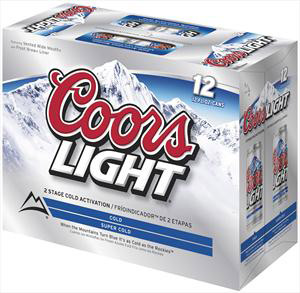 Coors Light 12 Pack Cans Coors Beer