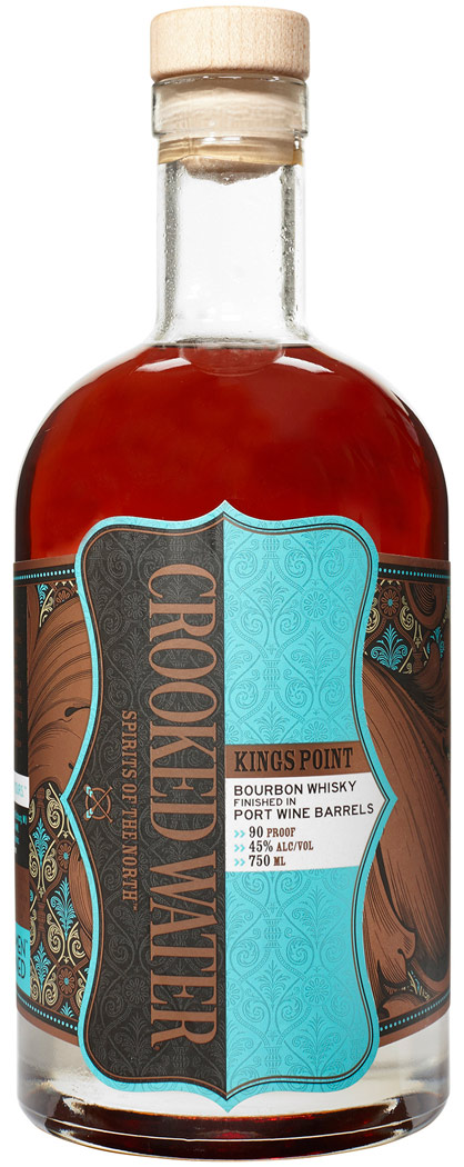 Crooked Water Kings Point Port Cask Finished Bourbon 750ML