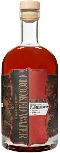 Crooked Water Old Hell Roaring Double Barreled Straight Bourbon