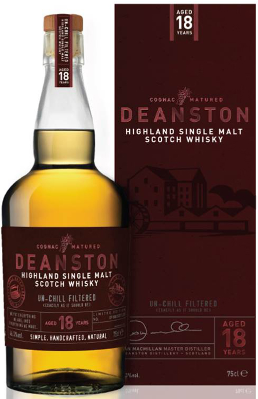 Deanston 18 Year Old Cognac Finished Single Malt Scotch 750ML