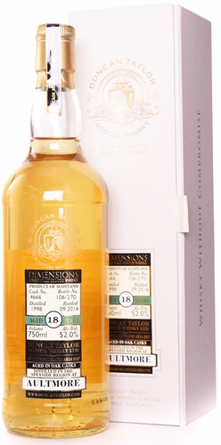 Duncan Taylor Dimensions Aultmore 18 Year Old Single Malt Whisky 750ML 1998