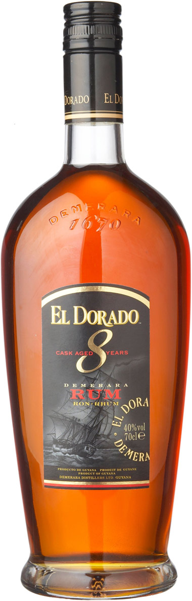 El Dorado 8 Year Old Rum 750ML